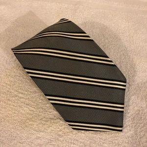 Brooks Brothers Grey w/ Black & White Stripe Tie
